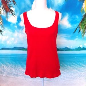 ❤️2/$25 Faded Glory Red Ribbed Tank Top XL (16/18)